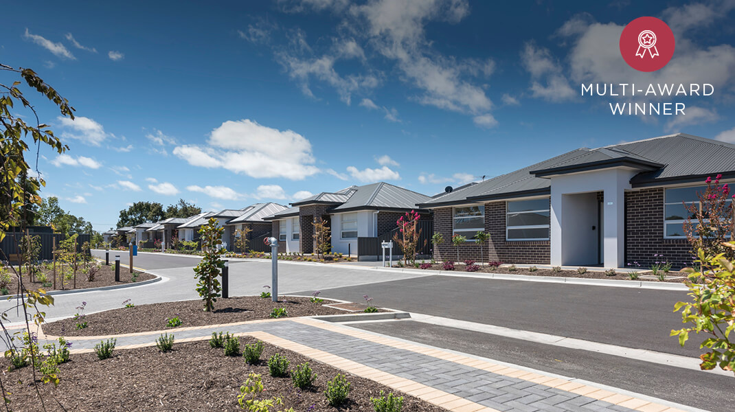 Normus Urban Projects Penneys Hill Estate Multi Award Winner independent living design and construction project