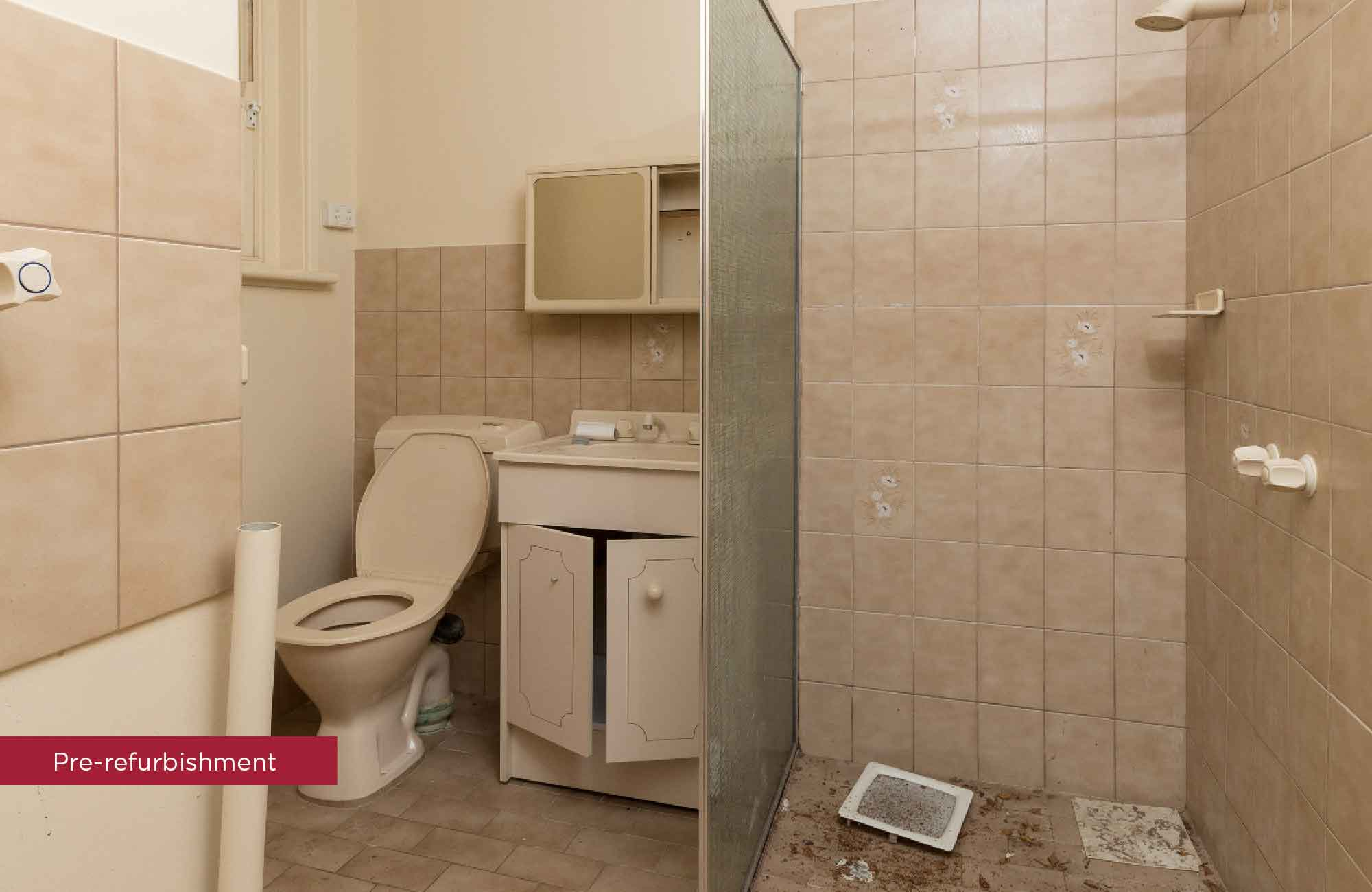 Pre-refurbishment of bathroom