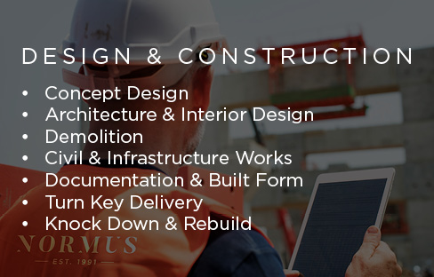 Normus Urban Projects specialises in Design and Construction for commercial property projects