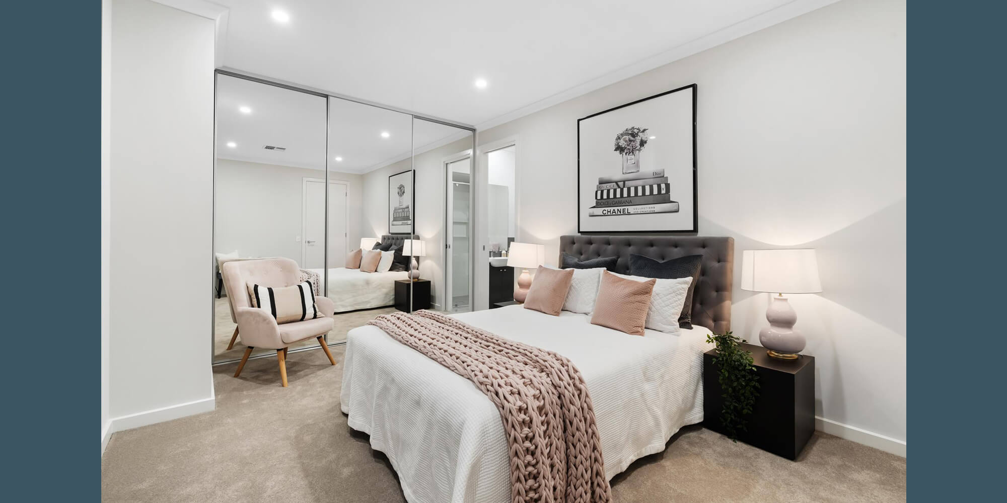 Normus Homes Custom Interior Designed Bedroom