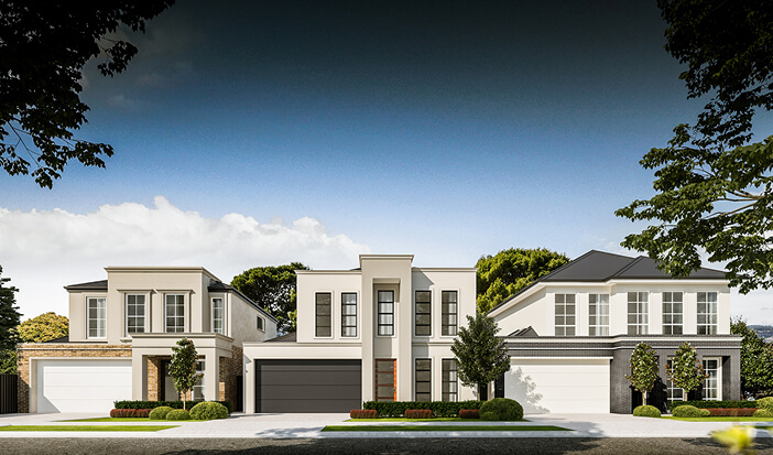 George Street Vale Park Trio of Custom Homes for Sale