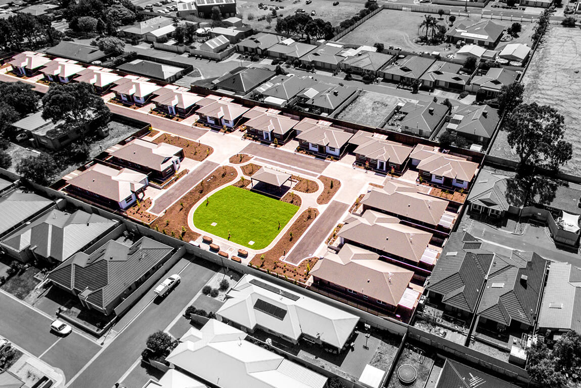 Normus Urban Projects Penneys Hill Estate Aerial Photo