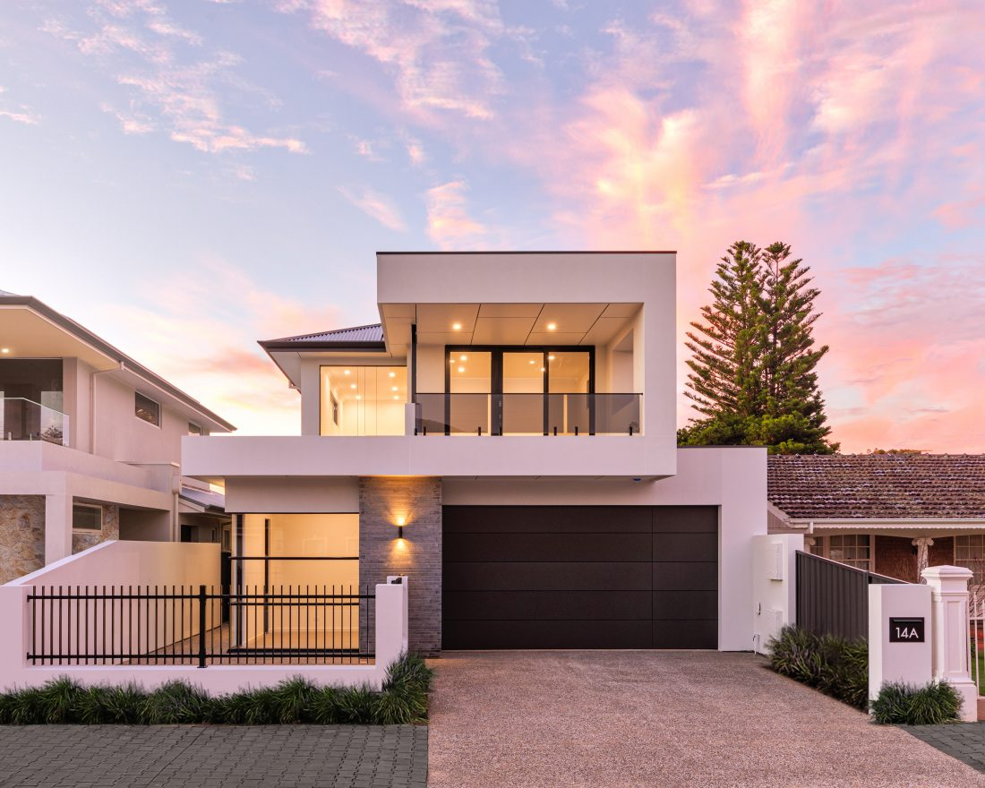 Normus Homes Facade sunset