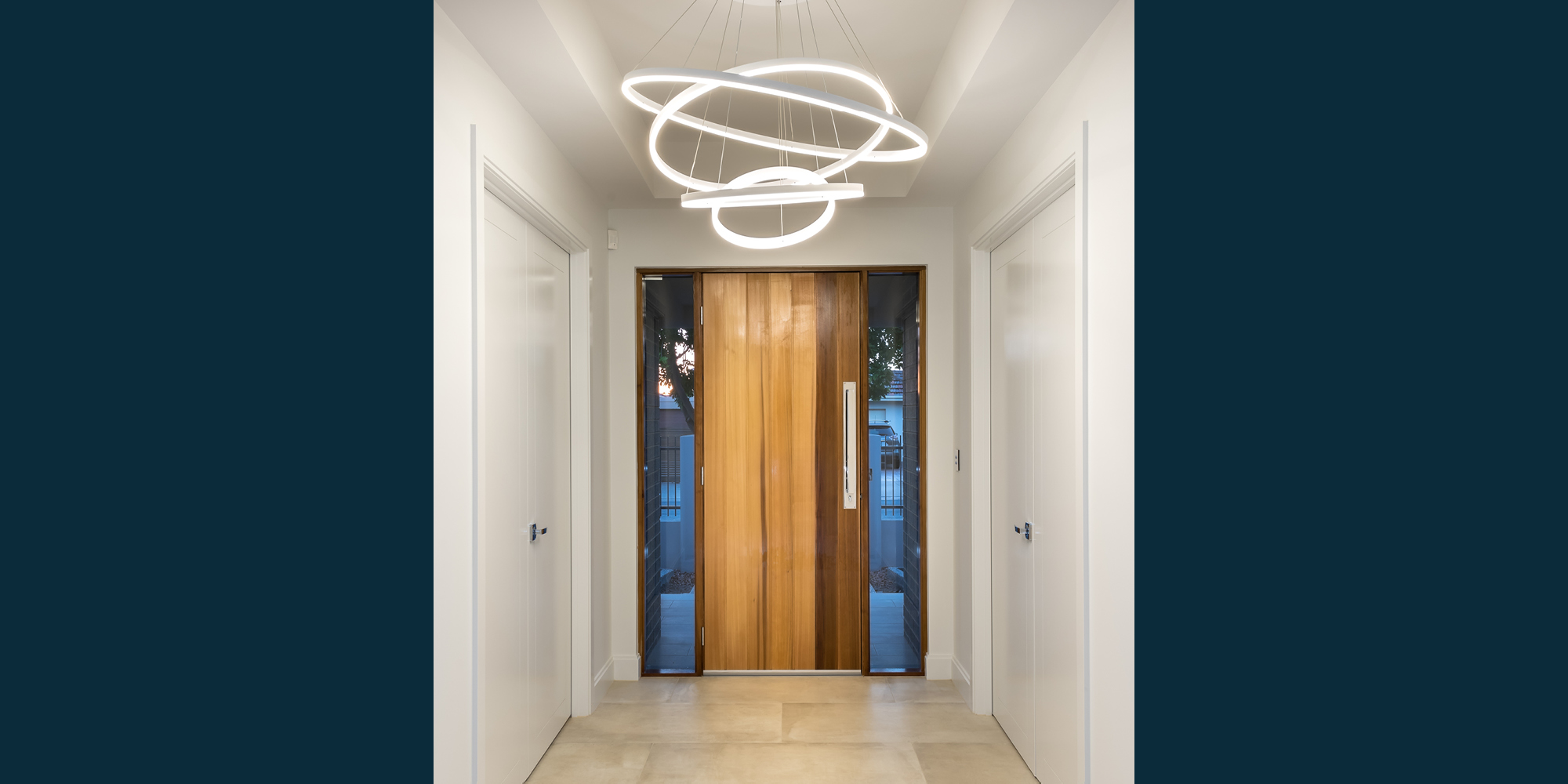 Normus Homes hallway lighting feature
