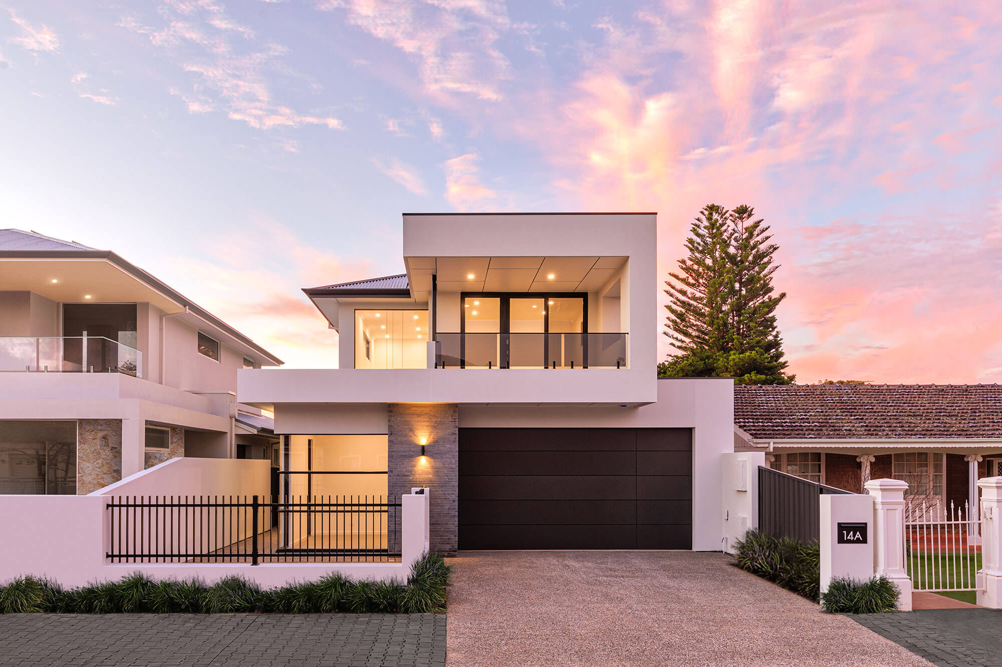 Somerton Park Normus Homes sunset facade