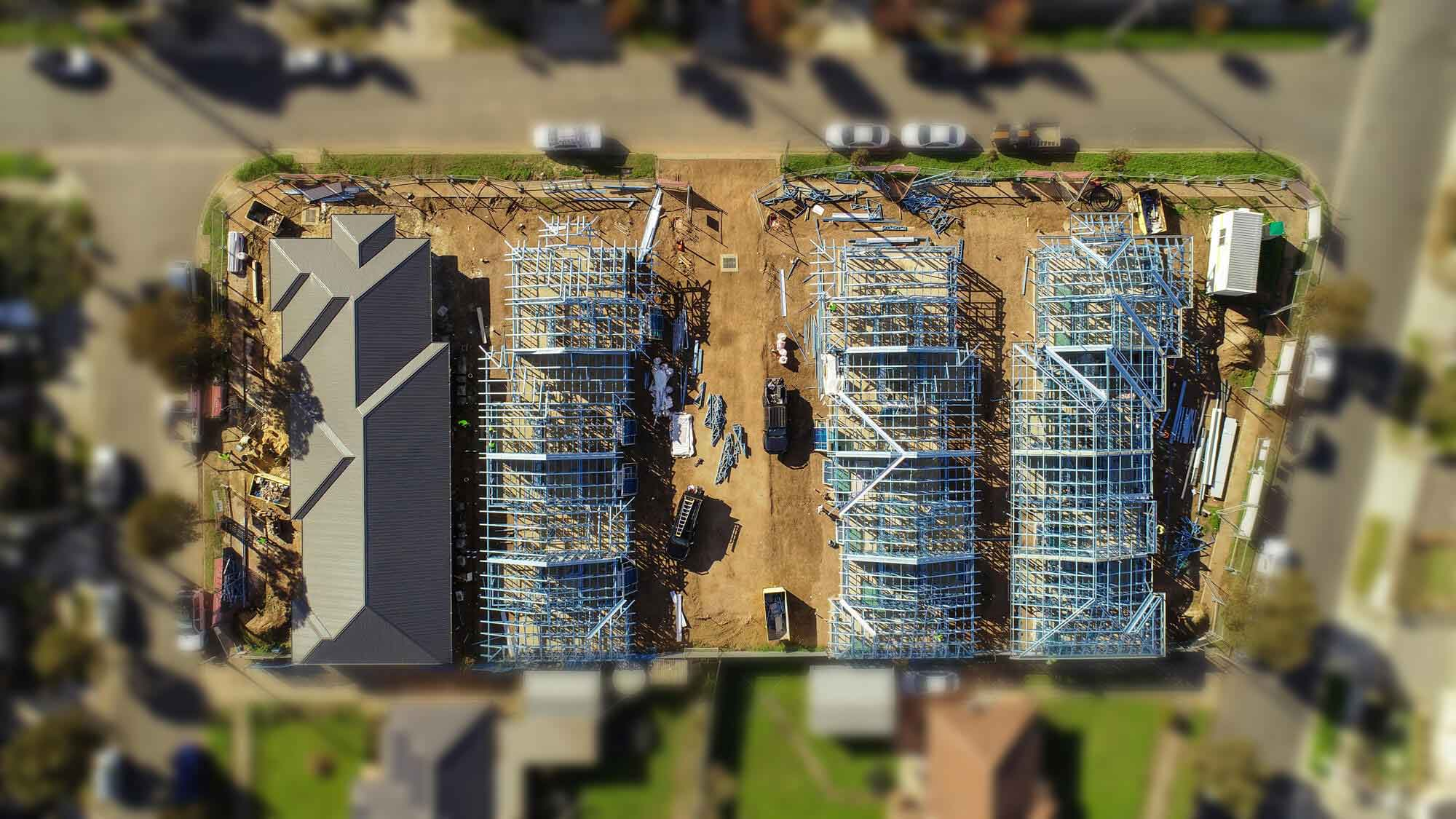 Aerial view of Normus Urban Projects construction site